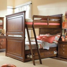 Full over Full bunk and drawers can be switchout for another full sized trundle bed.