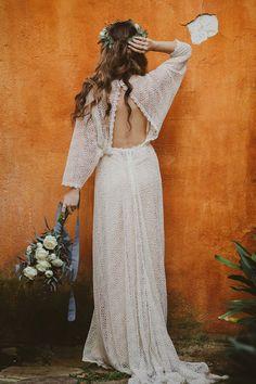 Immacle Wedding Dresses Bohemian Bride 00105