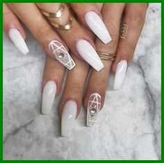 Coffin Nails Matte, White Acrylic Nails, Best Acrylic Nails, Gel Nails, Nail Polish, Toenails, Nail Nail, Matte White Nails, Blue And White Nails