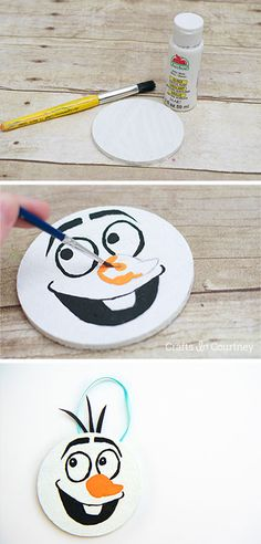 Simple Oalf craft from a coaster - Kids Christmas Ornement