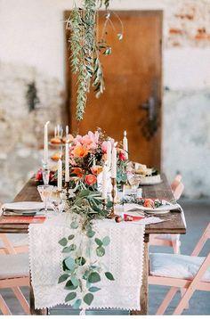 Elegant Bohemian Decor: Autumnal Boho Inspiration Shoot from OctaviaplusKl. Wedding Table Decorations, Wedding Table Settings, Decoration Table, Wedding Centerpieces, Elegant Table Settings, Decor Wedding, Table Centerpieces, Bohemian Wedding Inspiration, Bohemian Decor