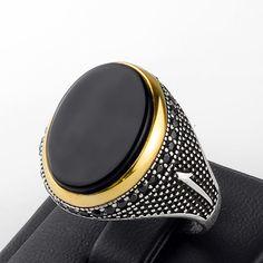 Mans Ring size 11 us Black Onyx Man Ring Black Onyx by ATAjewels #menssilverring…