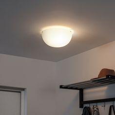IKEA - BJÄRESJÖ, Ceiling lamp, white, Gives a good general light. Ceiling Light Fixtures, Led Ceiling, Light Fittings, Led Track Lighting, Ikea Family, Led Lampe, Floor Lamp, Light Bulb, Design