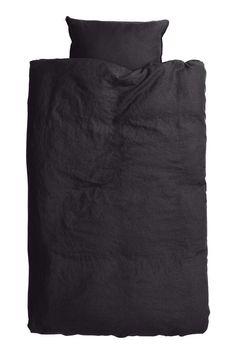 H&M Washed Linen Duvet Cover Set