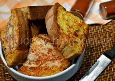 Αυγοφέτες φούρνου με γραβιέρα και πάπρικα