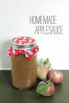 Homemade Applesauce. This will be your (and your children's) new favorite thing. Perfect for your home or gifted during the holidays.