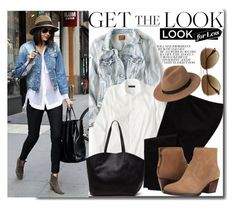 """""""get the look for less"""" by chelseaco ❤ liked on Polyvore featuring American Eagle Outfitters, J.Crew, Old Navy, MANGO, Nine West, H&M, GetTheLook and LookForLess"""