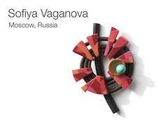 Polymer clay brooch by Sofiya Vaganova.