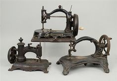 early cast iron sewing machines
