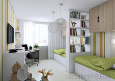 for children room study+single bed