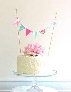 Vintage Fabric Cake Bunting