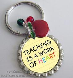 Bottle Cap Key Chain  For Teachers by PendantLicious on Etsy