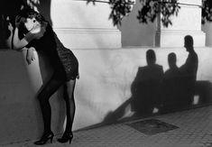 Ferdinando Scianna - 1988. Andalusia. Seville. Fashion photograph with the model Celia FORNER.