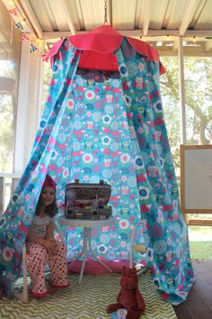 Sleepy Animals Play Tent by bluehousejoys on Etsy