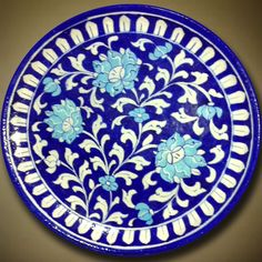 Decorative Plate Large Floral