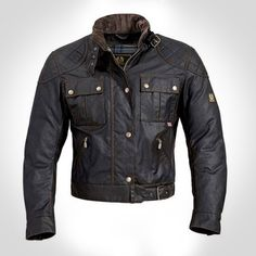 Belstaff - The Mojave Brooklands wax jacket is based on the jacket made famous by Steve McQueen when competing in the Mojave Desert race in California.