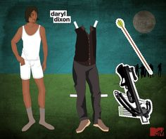 """The Walking Dead"" - Personagens viram bonecas de papel - Geek Vox"