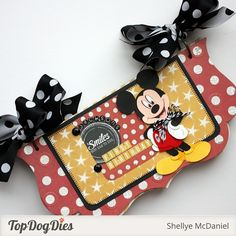 Mickey Mouse Mini Album by Shellye McDaniel for Top Dog Dies