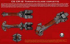 CR12 Thranta-class corvette ortho [New] by unusualsuspex on DeviantArt