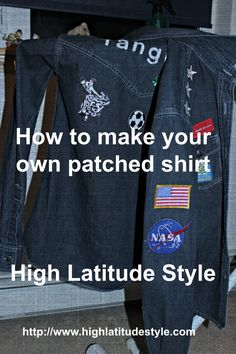 #DIY #patchtrend You can make your unique patched shirt in six easy steps. Tutorial on the blog