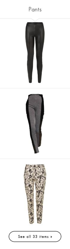"""""""Pants"""" by ivana-milovanovic ❤ liked on Polyvore featuring pants, leggings, bottoms, vegan leather pants, slim pants, leather look leggings, fake leather pants, slim-fit trousers, trousers and dolls"""