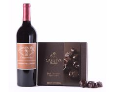 Napa Valley Cabernet & Godiva Chocolates Gift Set - Wine Collection Gift Wine Collection Gift by Wine.com. Red wine + chocolate = heaven. We've found the perfect wine to match with Godiva's premium dark chocolates. Clos du Val Cabernet Sauvignon is rich, ripe and structured, a delicious paring...