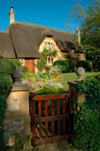English Cottage & nice timber gate