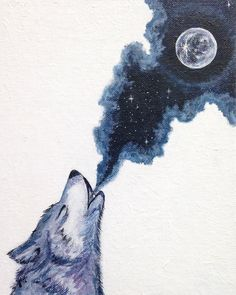 """Calling the Moon"" von Robyn Faie Gertjejansen 8 x 10 Acryl Wolf Malerei Wasser . - Emma Fisher Zeichnungen zum Malen - ""Calling the Moon"" von Robyn Faie Gertjejansen 8 x 10 Acryl Wolf Malerei Wasser … – - Wolf Painting, Painting & Drawing, Drawing Drawing, Native American Art, Native Art, Cute Drawings, Wolf Drawings, Art Sketches, Tattoo Sketches"
