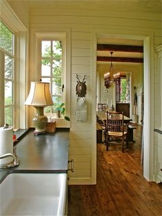 English Cottage kitchen, Our vacation cottage was completed in October, 2011. The kitchen has painted painted cabinets--BM Sag Harbor Gray,...