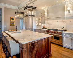 Calacatta solid surface for white kitchen interior design