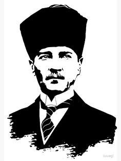 'Gazi Mustafa Kemal Atatürk' Poster by tuwegl - Hobbies paining body for kids and adult Framed Prints, Canvas Prints, Art Prints, Cute Tattoos For Women, Stencils, 3d Cnc, Dress Shirts For Women, Unique Tattoos, Art Boards
