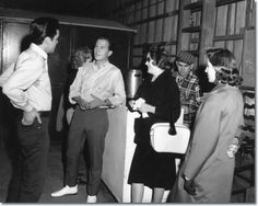 """November 1957 - Elvis went to see """"April Love"""", the latest Pat Boone movie, at the Loew's Palace in Memphis. (Photo: on the set of """"Wild In The Country"""") Wild In The Country, Country Fall, Family Day Quotes, Elvis Cd, Way Of The Dragon, Pat Boone, Elvis Presley Movies, Blues, King Of Music"""