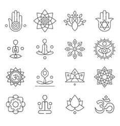 Yoga icons and line badges graphic design vector . - Yoga icons and line badges graphic design vector - Mini Tattoos, Small Tattoos, Tatouage Yogi, Henna Designs, Tattoo Designs, Hamsa Tattoo Design, Symbole Tattoo, Yoga Kunst, Yoga Tattoos