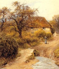 'Hill Farm, Symondsbury' by Helen Allingham (Helen Mary Elizabeth Paterson)…