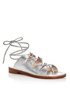 325.00$  Watch now - http://viuvc.justgood.pw/vig/item.php?t=8x7t26560 - Loeffler Randall Kira Metallic Lace Up Ankle Tie Sandals 325.00$