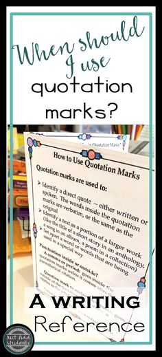 Practice Quotation Marks by Creating a Comic Book Quotation mark - why quotation are used