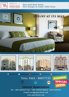 Oman Tourism, Salalah, Summer Special, Muscat, Books Online, Hotels, Luxury Rooms, Bed, Building