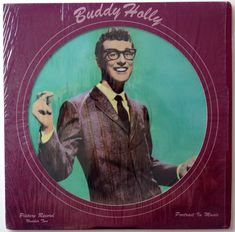 Buddy Holly - Portrait in Music Picture Disc LP Vinyl Record Album, Solid Smoke Records - SS-8003, 1979, Original Pressing