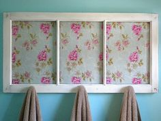 Cool idea to use an old window as a hanger
