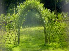 Idea for arch over entranceway - perhaps could be a bit wider than the walkway itself