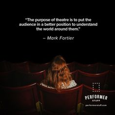 Help your audience see the world differently. #theatre #acting #thespians #broadway #actingquotes #actinginspiration