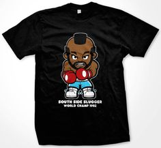 Clubber Lang, Mr T., Rocky III, Rocky 3, South Side Slugger, T-Shirt, T Shirt, Tee | Black Action Tees