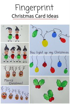 Capture the symbols of the #holiday season with these fun-fingerprint #Christmas cards, great excuse to sit down and bond with kids from @beafunmum