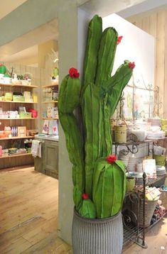 fabric cactus at Anthropologie - would love to make some of these