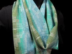 Handwoven Scarf Lightweight Bamboo Scarf Hand by LoomOnTheLake