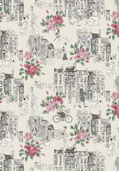 Townhouse dogs from our upcoming 101 dalmatians collection cath kidston disney, cath kidston New Wallpaper Iphone, Disney Phone Wallpaper, Wallpaper Backgrounds, Disney Phone Backgrounds, Vintage Backgrounds, Disney Background, Background Vintage, Cath Kidston Patterns, Cath Kidston Wallpaper