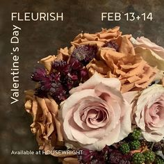 This Valentines Day we are pleased to offer this sublime floral arrangement by Nisha from @fleurishseattle. This Muted tone floral includes a combination of ten toffee and quicksand roses accents of astrancia and cuffs of blackberry. The arrangement will set a mood and sit perfectly at bedside or any special space in your loved ones home. Preorders are encouraged call the shop to reserve (206)566-6117. A limited supply will be available for in store pick up on the 13th & 14th. First Home, Toffee, Bedside, Blackberry, Floral Arrangements, Cabbage, Cuffs, Roses, Valentines