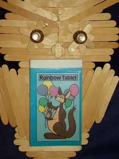 Owl Popsicle Stick Tramp Art Folk Art Owl Notepad Wall Hanging