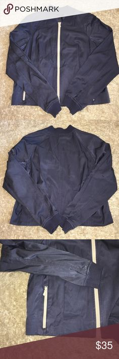 """Worth New York Bomber Jacket Super cute Zip Up Bomber style jacket. Color is a blue. Size says P, fits S. Length: 20"""". Width: 19 1/2"""". Feel free to ask any questions! No trades sorry, & offers thru the offer button only! . Worth New York Jackets & Coats"""