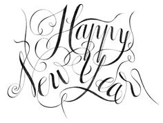 Illustration Happy New Year lettering calligraphie Florence Gendre #illustration #calligraphy #lettering #HappyNewYear